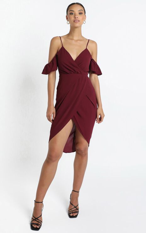 A Fair Go Dress In Wine