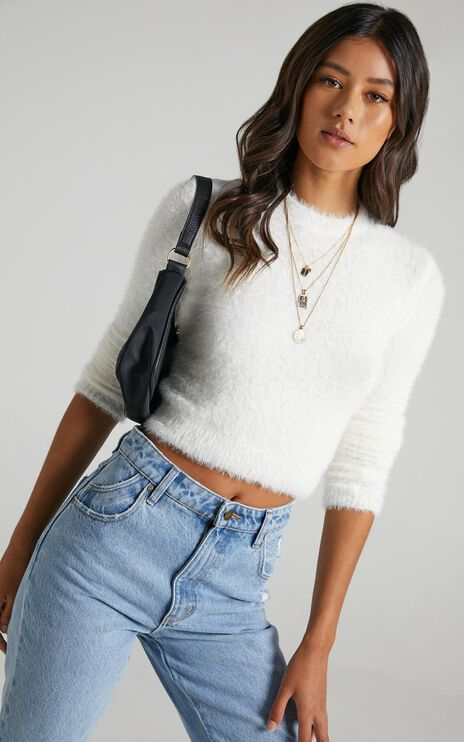 Switching Sides Knit Top in Ivory