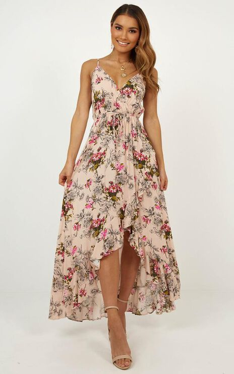 Down The Boulevard Dress In Blush Floral
