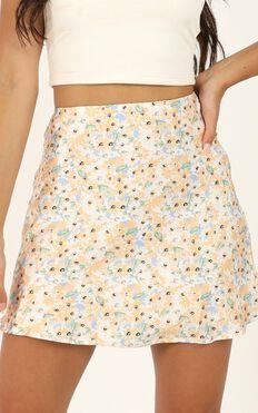 Parisian Life Skirt In Multi Floral