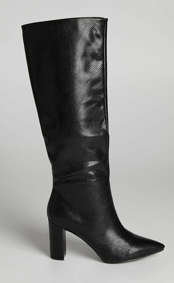 Billini - Waldorf Boots in Black Lizard