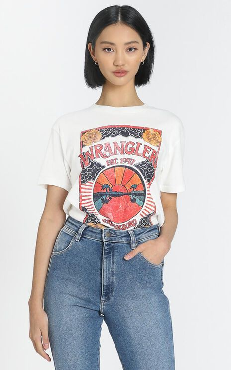 Wrangler - Canyons Tee in Vintage White