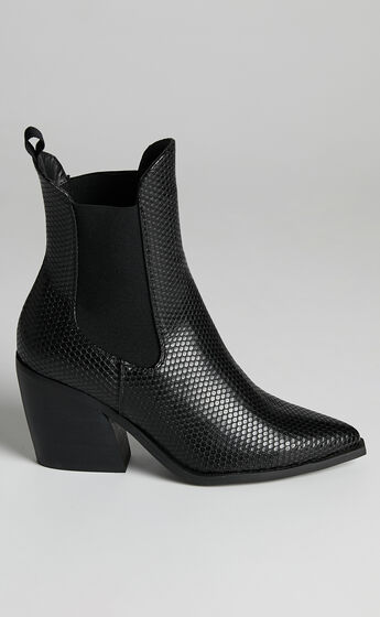 Therapy - Josette Boots in Black Snake