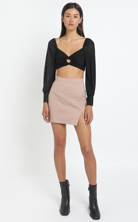 Cydney Skirt in Tan