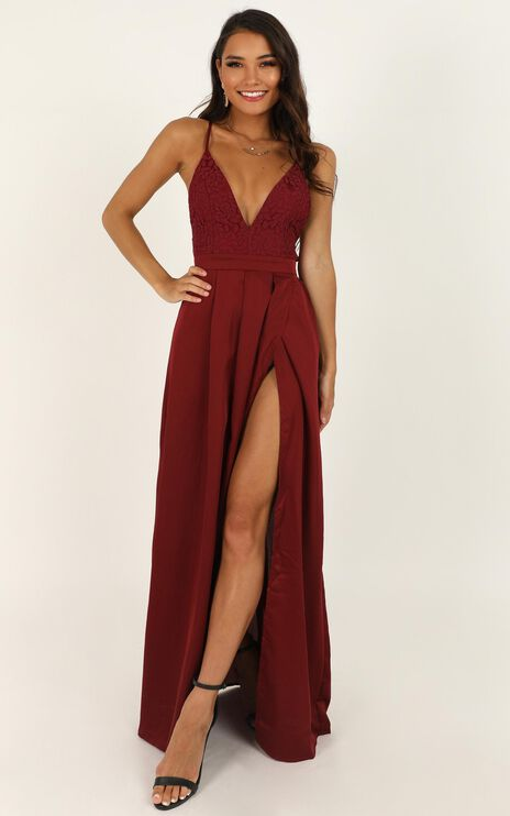 Inspired Tribe Maxi Dress In Wine