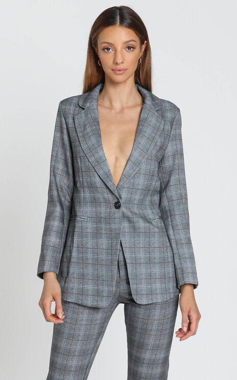 Christine Blazer in Grey Check