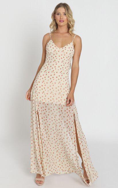 Devin Dress in cream floral - 8 (S), Cream, hi-res image number null