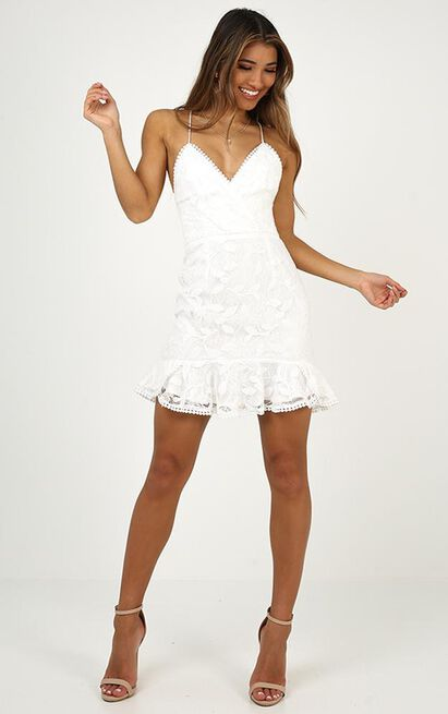 Find My Feet dress in white lace - 14 (XL), White, hi-res image number null