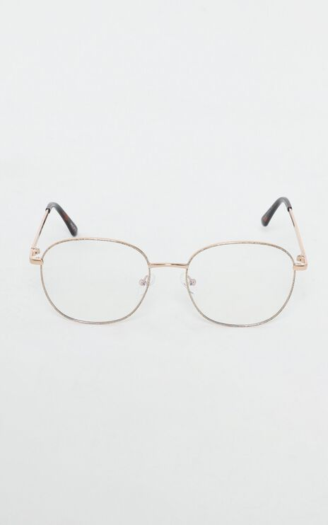 Quay X Chrissy - Jezabell Glitter Glasses In Gold
