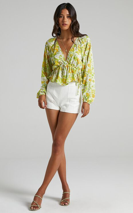 Isidore Top in Harmony Floral Rayon