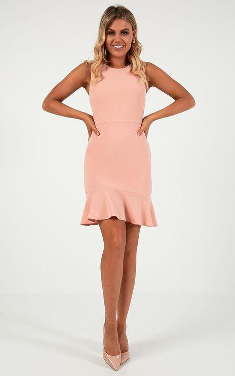 Obey Me Dress In Blush