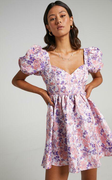 Nicolette Dress in Multi Floral