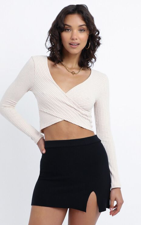 Kiley Knit Skirt in Black