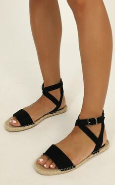 Verali - Enya Sandals In Black Micro