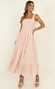 Care About You Dress In Blush