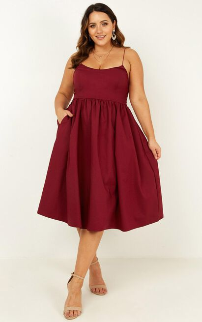 Wild Nights Dress in wine - 6 (XS), Wine, hi-res image number null