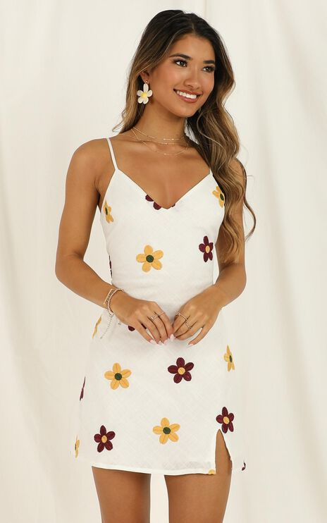Back To The Ocean Dress In White Print