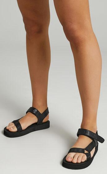 Public Desire - Threat Sandals in Black
