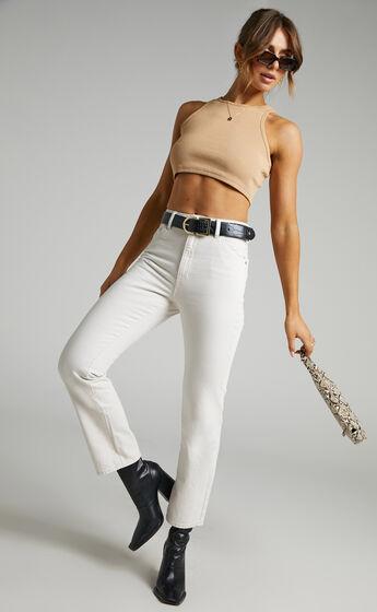 Rollas x Sofia Richie - Original Straight Jean in Salt