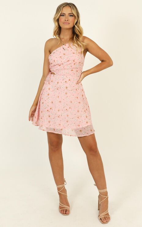 To Be Mine Dress In Pink Floral