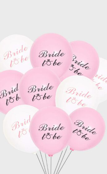 Bride To Be Balloons in Pink