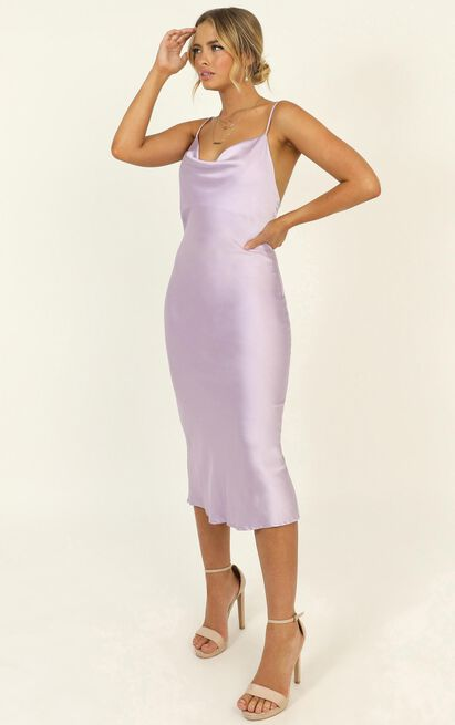 Before The Storm dress in lilac satin - 12 (L), Purple, hi-res image number null