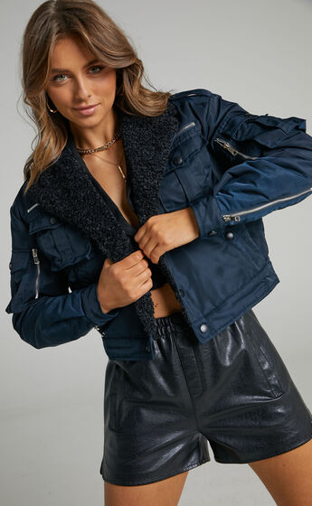 Lioness - Badge of Honour Jacket in Navy