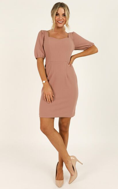 Conference Call Dress in mocha - 20 (XXXXL), Mocha, hi-res image number null