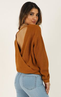 Worth Watching Knit Top In Rust