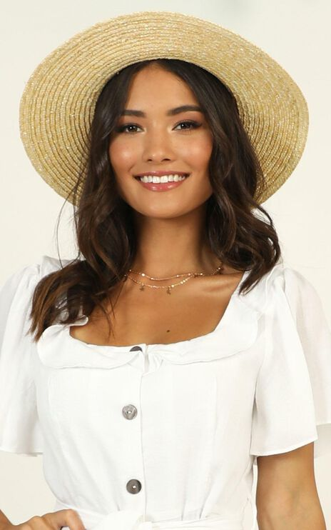 Blue Skies Boater Hat In Natural