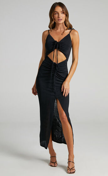 Carmen Ruch Front Dress in Black