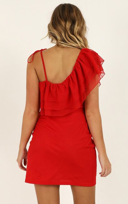 Trails Of The Past Dress in red - 20 (XXXXL), Red, hi-res image number null