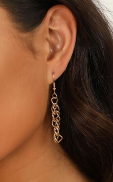 Hear My Heart Earrings 5 Pack In Gold