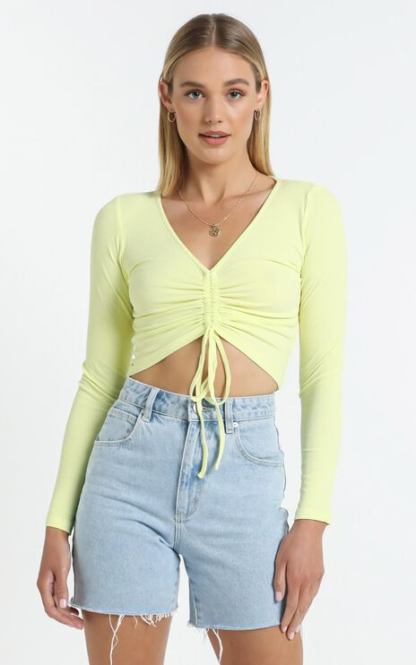 Eleanora Top in Pastel Yellow