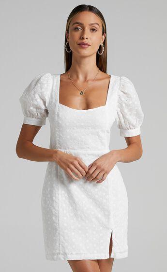 Tintalle Dress in White Broderie
