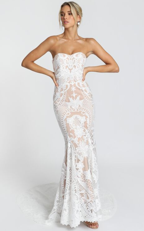 Lets Get Married Gown in White Lace