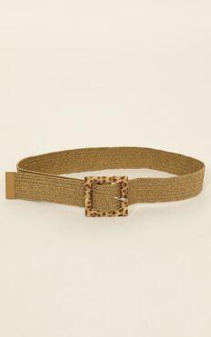 Its Worth It Belt In Natural Leopard