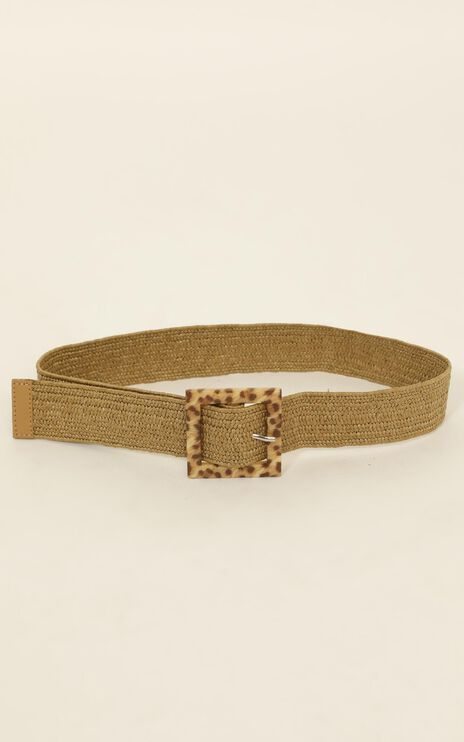 Its Worth It Belt In Natural Leopard