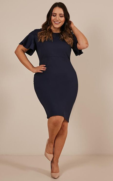On My Way Up Dress In Navy