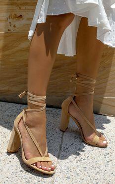 Billini - Juno Heels In Camel Micro