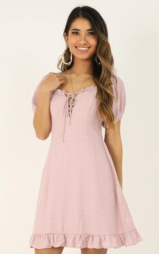 This Time Its Real Dress In Blush