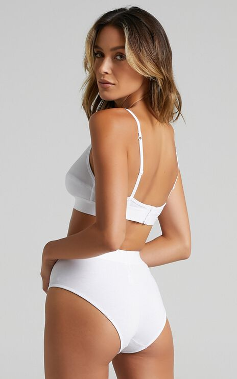 Les Girls Les Boys - Ultimate Comfort Highwaist Brief in White