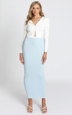Jessie Knit Skirt in Blue