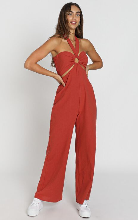 Henrietta Jumpsuit in Rust