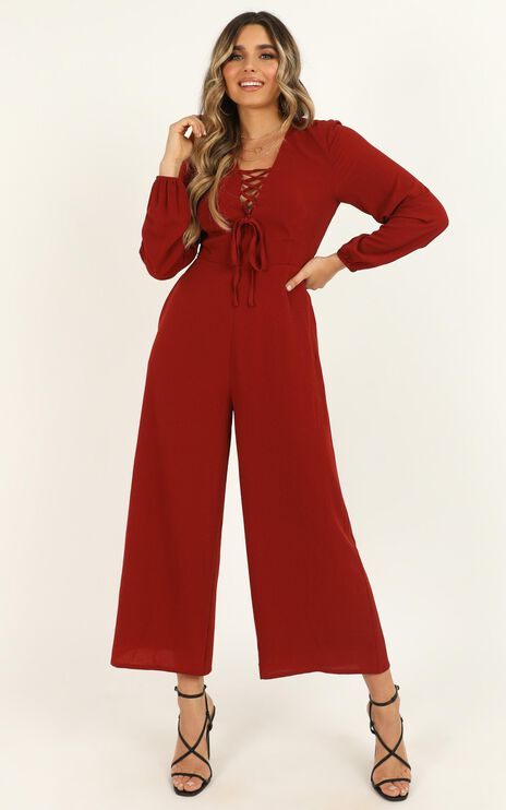 More And More Jumpsuit In Rust