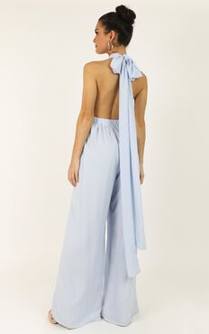 Girls Life Jumpsuit In Light Blue