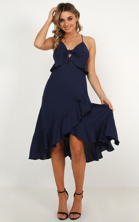 Set The Mood Dress In Navy