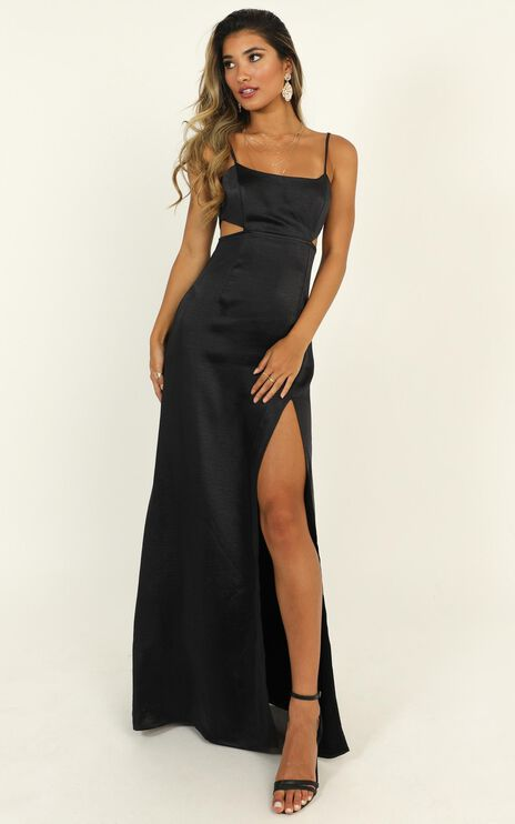 A Special Mention Dress In Midnight Satin