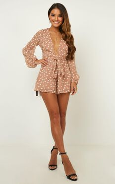 Wheels Bouncing Playsuit In Blush Floral