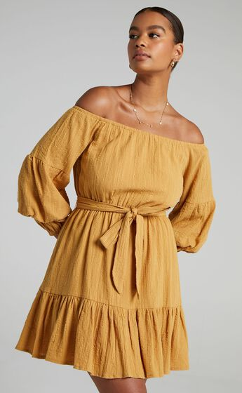 Getting It Right The First Time Dress in Mustard